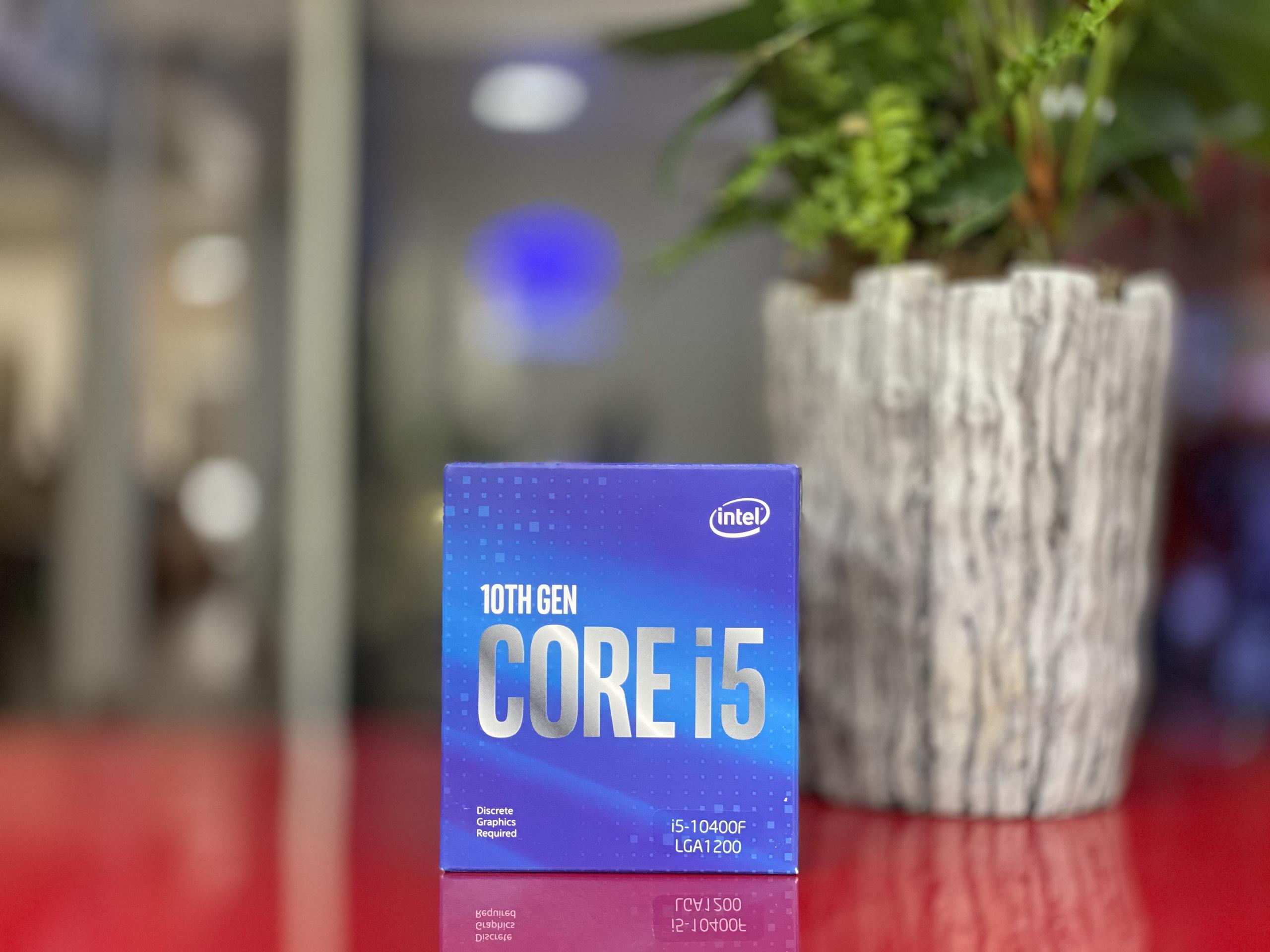 CPU Intel Core i5-10400F (2.9GHz turbo up to 4.3Ghz, 6 nhân 12 luồng, 12MB Cache, 65W) - Socket Intel LGA 1200 - Thế Giới PC Đà Lạt